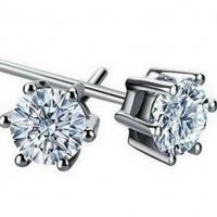 Wholesale Women's Round Cut Cubic Zircon Stud Earrings(EESTUD03) from china suppliers