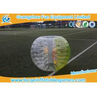 Quality Yellow Color 1.5m TPU Inflatable Bubble Ball Loopy Ball , Inflatable Human Bumper Ball for sale