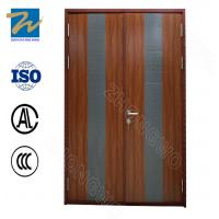 Wholesale 55/52 Mm Thick Shutter Fire Resistant Wooden Doors With Glass For Building Project from china suppliers