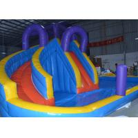 Wholesale Blue And Yellow Inflatable Water Slide With Pool For Commercial Use from china suppliers
