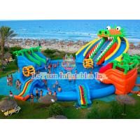Wholesale Dinosaur Inflatable Water Slides Double Stitching Quadrupl Stithing  Reinforcement from china suppliers