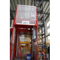 Construction Material Man Material Hoist / Lifting Hoist Equipment With Single And Double Cage for sale