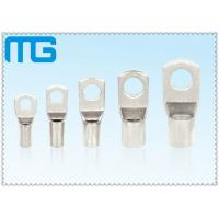 Wholesale High Voltage Tinned Copper Cable Lugs 36KV 18mm - 200mm Length Ring Type Lugs from china suppliers