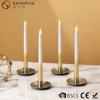 Wholesale Battery - powered Flameless LED Taper Candles With silver painted from china suppliers