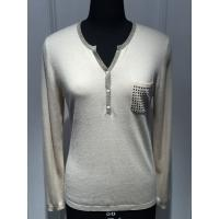 Wholesale Computer plant knitted Long Sleeve Ladies Pullover Sweaters With Pockets and Lurex from china suppliers