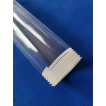 Buy cheap custom Transparent Irregular shape quartz lining tube screw thread tube Screw from wholesalers
