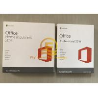 Quality Microsoft Office Home And Business 2016 PKC Version 64 Bit OEM New Key for sale
