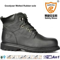 Wholesale High Quality Goodyear Welted High Ankle safety boots caterpillar work boots from china suppliers