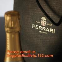 luxury paper carrier bag wholesale paper bags with handle, decorative luxury recyclable fashion paper bags with your own for sale