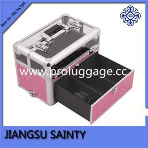 China SACMC094 pink crocodile nail polish case on sale