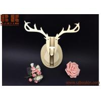 Wholesale 2018 new DIY big head deer head wall hanging home wall decor wood natural color from china suppliers