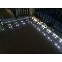 Wholesale DIY Decks tiles with solar light for garden balcony countryyard from china suppliers
