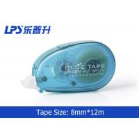 Wholesale 8mm*12m Plastic PET Two Sided Office Sticky Roller Glue Tape with Easy Touch Cap from china suppliers