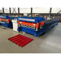 Wholesale Servo Motor Glazed Tile Roll Forming Machine 4 Meter / Min With 18 Rows from china suppliers