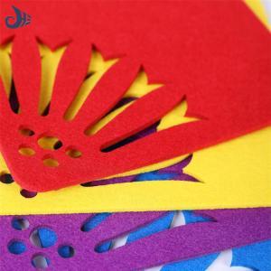 China eco-friendly fine quality sublimation type table decoration & accessories felt coaster felt mat on sale