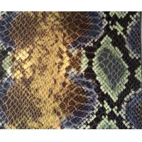 Colorful Pattern Snakeskin Vinyl Upholstery Fabric For Luggage Material