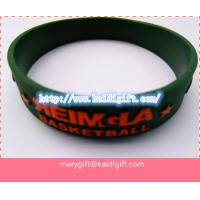 Emboss Silicon Bracelet, Rainbow Silicone Wristband Custom Wristband Cheap for sale