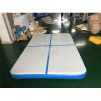 Wholesale Blue Squre Air Track Tumbling Mat , Tumble Track Inflatable Air Mat For Gymnastics from china suppliers