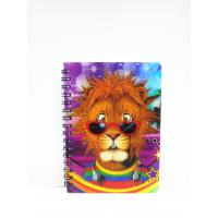 China 400 DPI PET / PP A6 3D Lenticular Notebook / Spiral Diary Book on sale