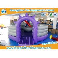China CE Inflatable Sport Games / Purple Competitive Fighting Arena Eco Friendly on sale