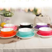 Buy cheap Household Simple Ceramic Coffee Mug Set Saucer Soup Suit Low Water Absorption from wholesalers