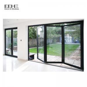 Wholesale Gray Aluminium Folding Sliding Doors / Aluminium Bifold French Doors 2.0mm from china suppliers