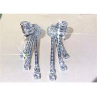Wholesale High End Personalized 18K White Gold Diamond Earrings For Women from china suppliers