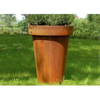 Wholesale Modern Flared Column Corten Steel Planter Flower Pot For Hotel Decoration from china suppliers