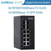 12 ports network switch 4x1000BaseX SFP Slots and 8x10/100/1000BaseT(X) Ports