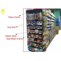 Wholesale Double Side Supermarket Steel Racks With Price Stopper Fence End Shelf from china suppliers