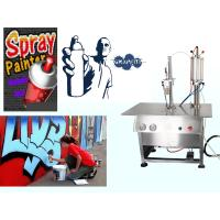 Aerosol Canned Chrome Spray Paint Filling Machine / Production Line Semi Automatic for sale