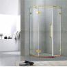 Golden Diamond Type Frameless Shower Cubicles Hinged  10MM Tempered Glass CE / EN12150 for sale