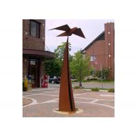 China Large Outdoor Garden Art Sculpture Corten Steel Decorative Sculpture for sale