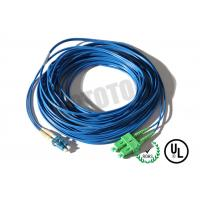Quality Dark Blue Jacket , LC - SC Connector Fiber Patch Cord , SM OS2 BI , 2 Fiber Zip 2mm OFNR for sale
