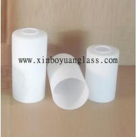 Wholesale Milk white Cylinder glass lamp cover from china suppliers
