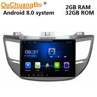 Buy cheap Ouchuangbo car gps nav audio BT android 8.0 for Hyundai Tucson 2015 support USB from wholesalers