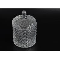 Wholesale Elegant White Glass Dome Candle Holder Personalised Glass Jars With Lid from china suppliers