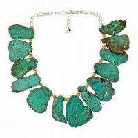 Wholesale Beaded Necklace with Turquoise Stone from china suppliers