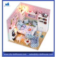 Wholesale 3D puzzle building diy wooden dollhouse miniature toy M003 from china suppliers