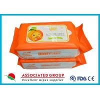 Biodegradable Wet Baby Wipes For Sensitive Skin / Unscented Baby Wipes