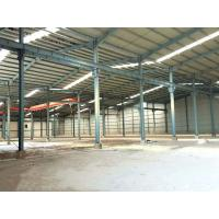 China Multi Spans Steel Structure Workshop Buildings High Strength With Overhead Crane for sale