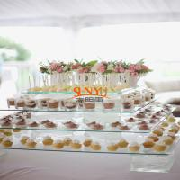 Quality Dessert Food Service Trays Stack More Tiers Glass Plexiglass Display Shelves for sale