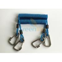 Wholesale Retractable Tool Tether Lanyards Blue Spring Elastic Plastic Coiled Tethers from china suppliers