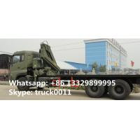 China DongFeng 6*4 folding boom mounted truck folding boom truck crane, factory sale dongfeng 210hp 12tons truck with crane for sale