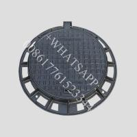 Wholesale Circular drain covers access ductile casting iron manhole cover and frame from china suppliers