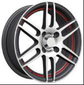 Wholesale KIN-655 Lightweight 14x6.0 Size Wheels Chrome , Aluminum Alloy Wheel from china suppliers