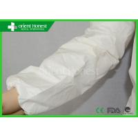 China Microporous Film Laminated Disposable Arm Sleeves Chemical Resistance on sale