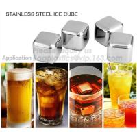 Wholesale Square Shape Ice wine stone ice cubes for wisky bar accessories, Gift box Customized Stainless Steel Whiskey Stones ICE from china suppliers