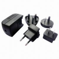 China 3W Interchangeable Plug Chargers with USB Port, 3 to 24V DC Voltage for sale