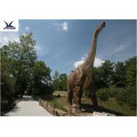Neck Turning / Tail Moving Fiberglass Outdoor Dinosaur Anti - High Temperature for sale